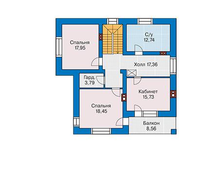 Проект кирпичного дома 40-93 план