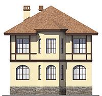 Проект кирпичного дома 41-10 фасад