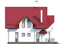 Проект кирпичного дома 41-14 фасад