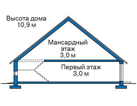 Проект кирпичного дома 41-14 план