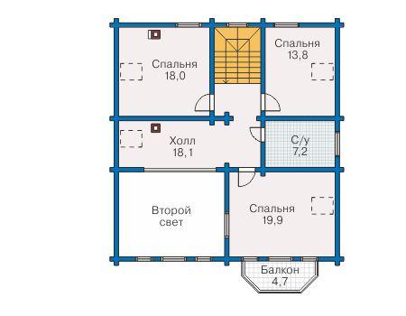 Проект деревянного дома 12-67 план