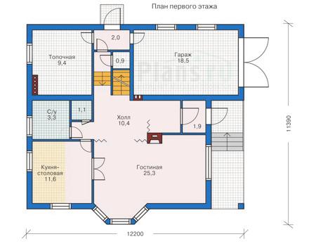 Проект кирпичного дома 31-45 план
