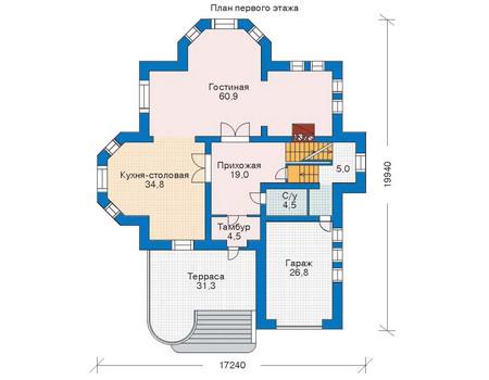 Проект кирпичного дома 35-36 план