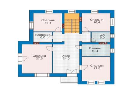 Проект кирпичного дома 35-55 план