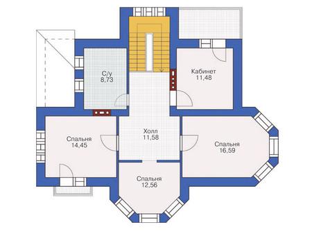 Проект кирпичного дома 36-43 план