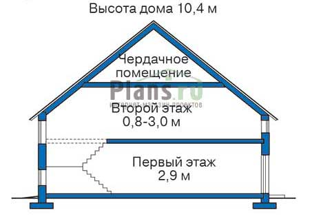 Проект кирпичного дома 36-45 план