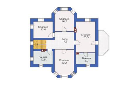 Проект кирпичного дома 36-56 план