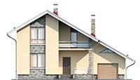 Проект кирпичного дома 41-19 фасад