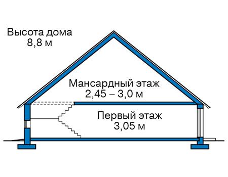 Проект кирпичного дома 41-19 план