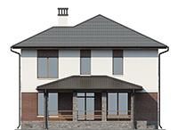 Проект кирпичного дома 41-29 фасад