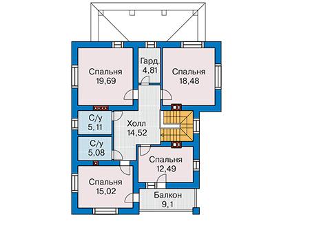 Проект кирпичного дома 41-29 план