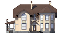 Проект кирпичного дома 41-43 фасад