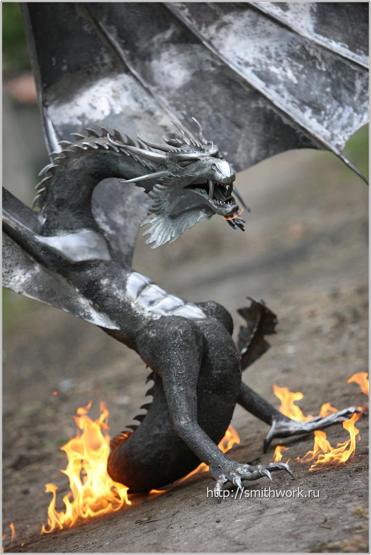 Дракон из металла своими руками