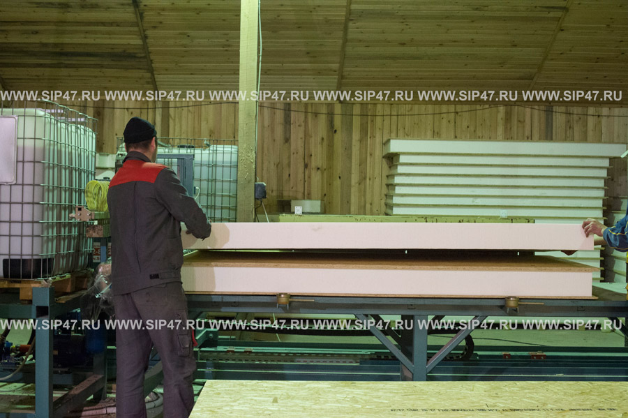 Производство СИП-панелей. СИП-технология строительства