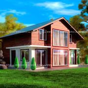 Типовой проект дома из СИП-панелей  №2 фасад