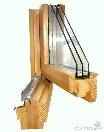 Деревянные окна для дома и бани