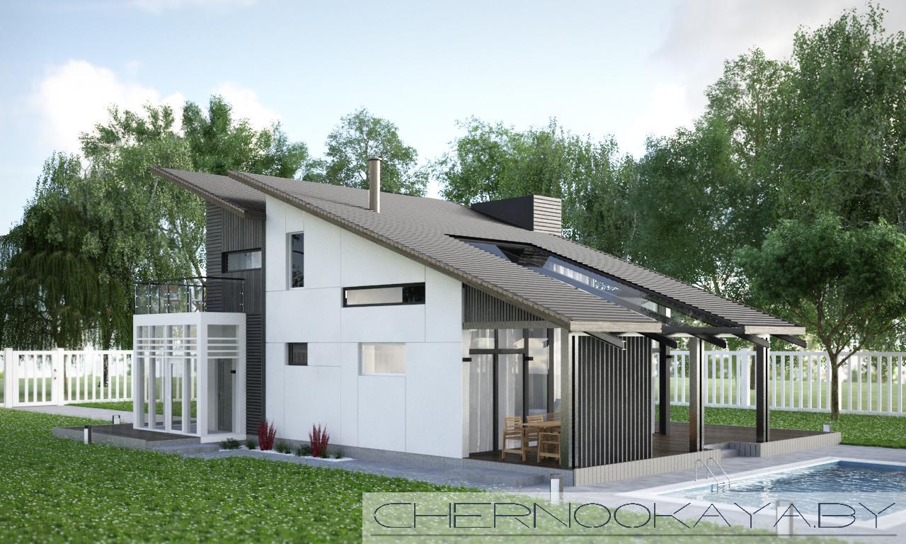 Современный проект дома №1501 фасад