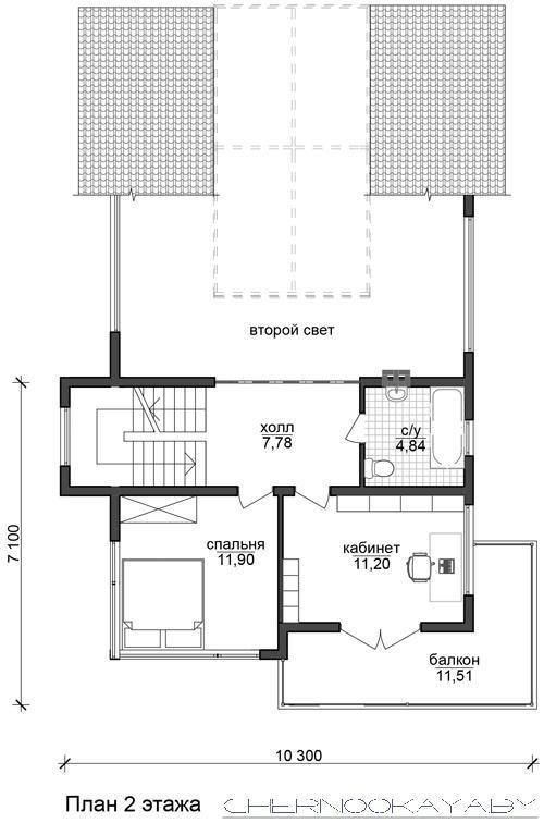 Современный проект дома №1501 план