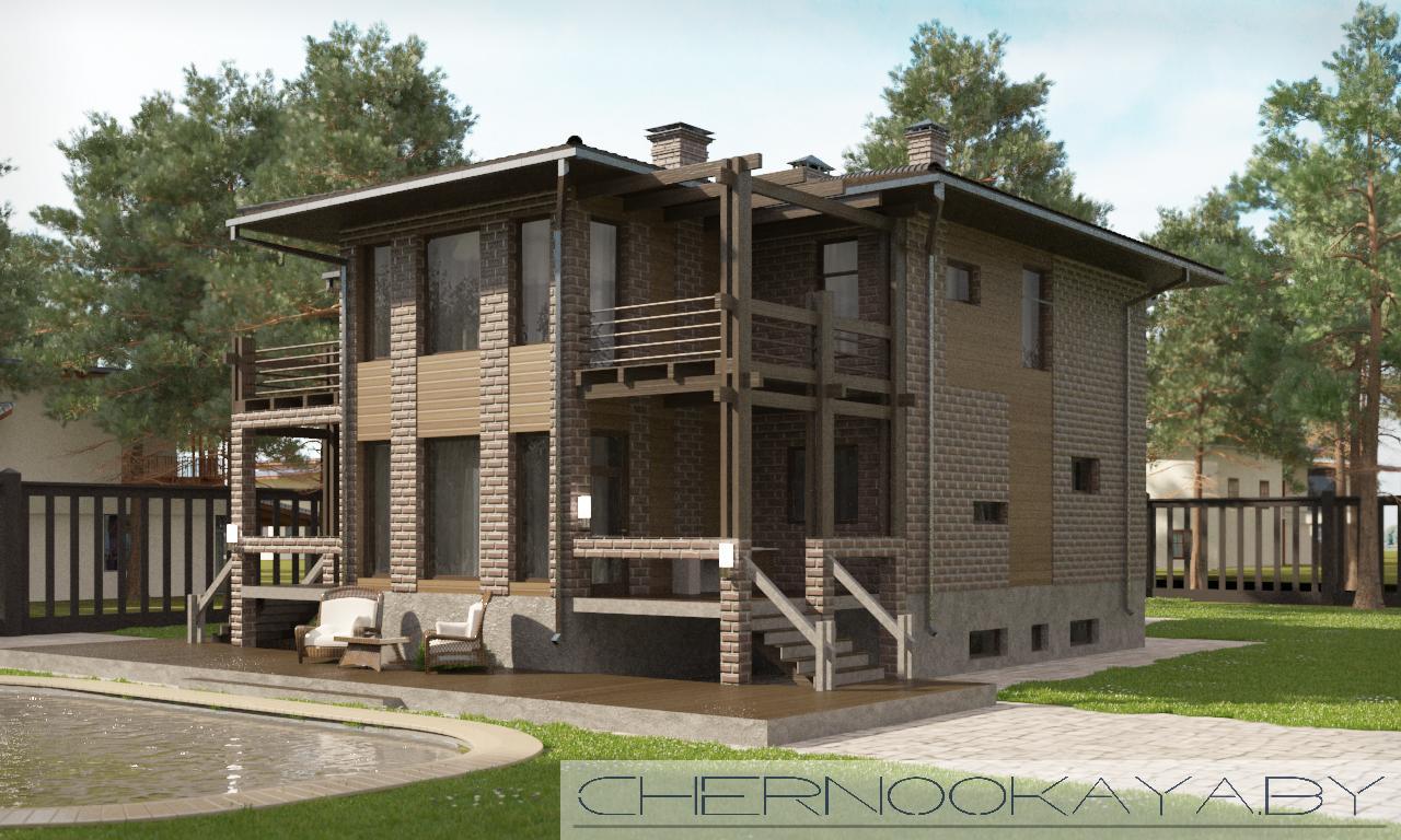 Современные проект дома №1565 фасад