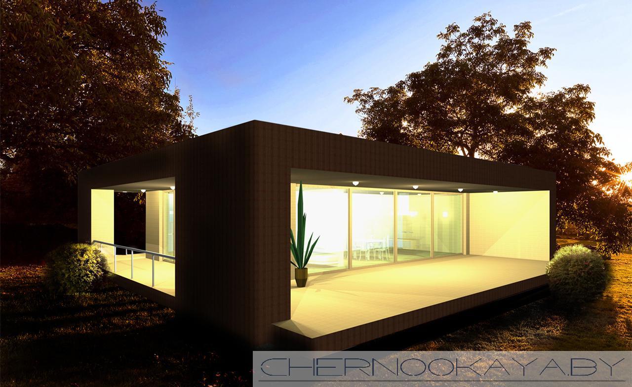 Современный проект дома №1500 фасад