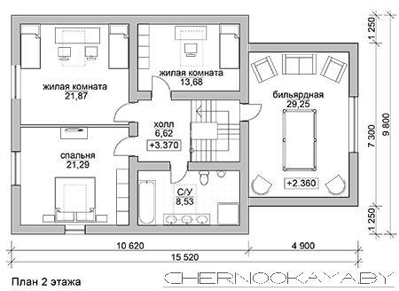 Проект дома №1561 Barn house (дом-амбар) план