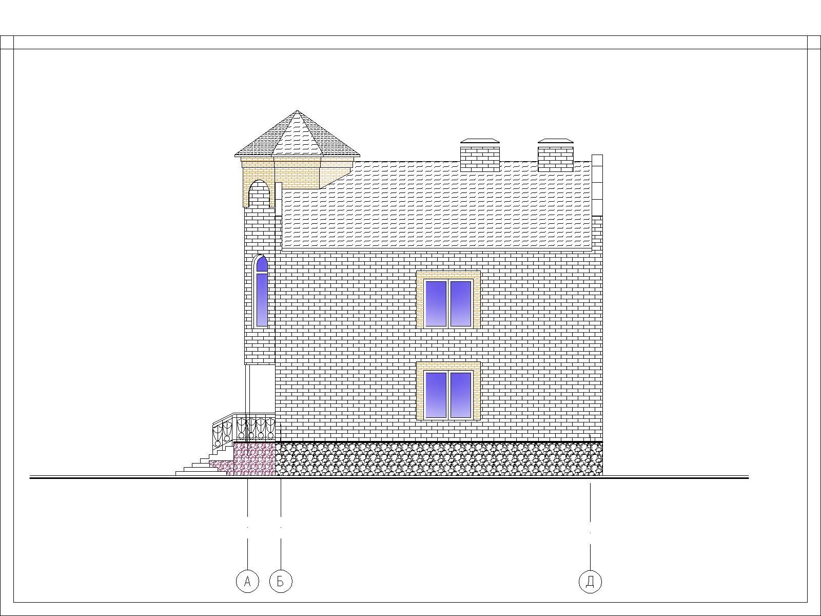 Проектирование коттеджа фасад