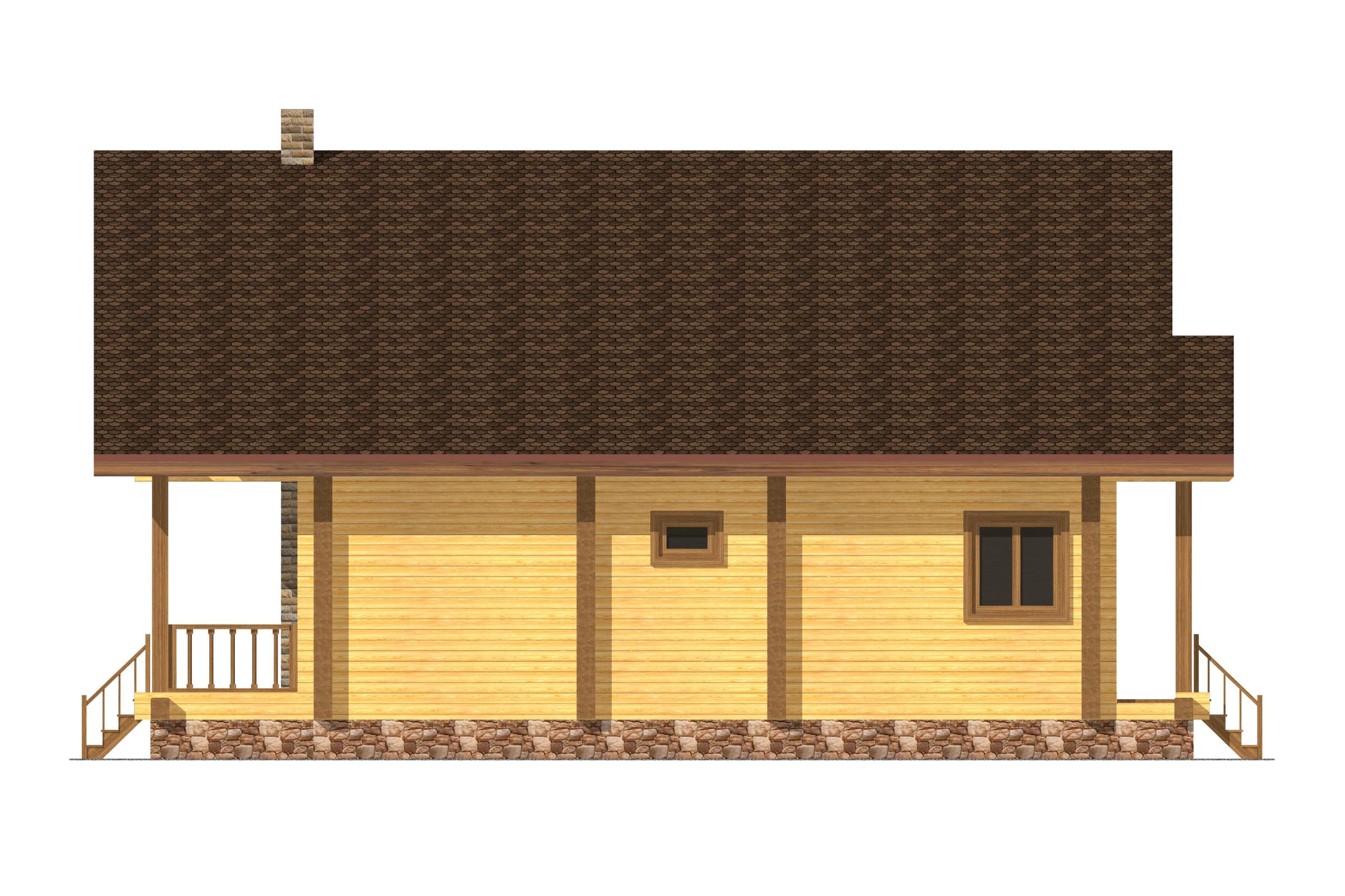Проект дома в стиле шале фасад