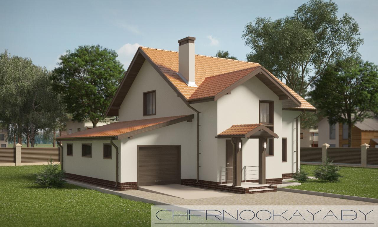 Проект дома №1532 фасад