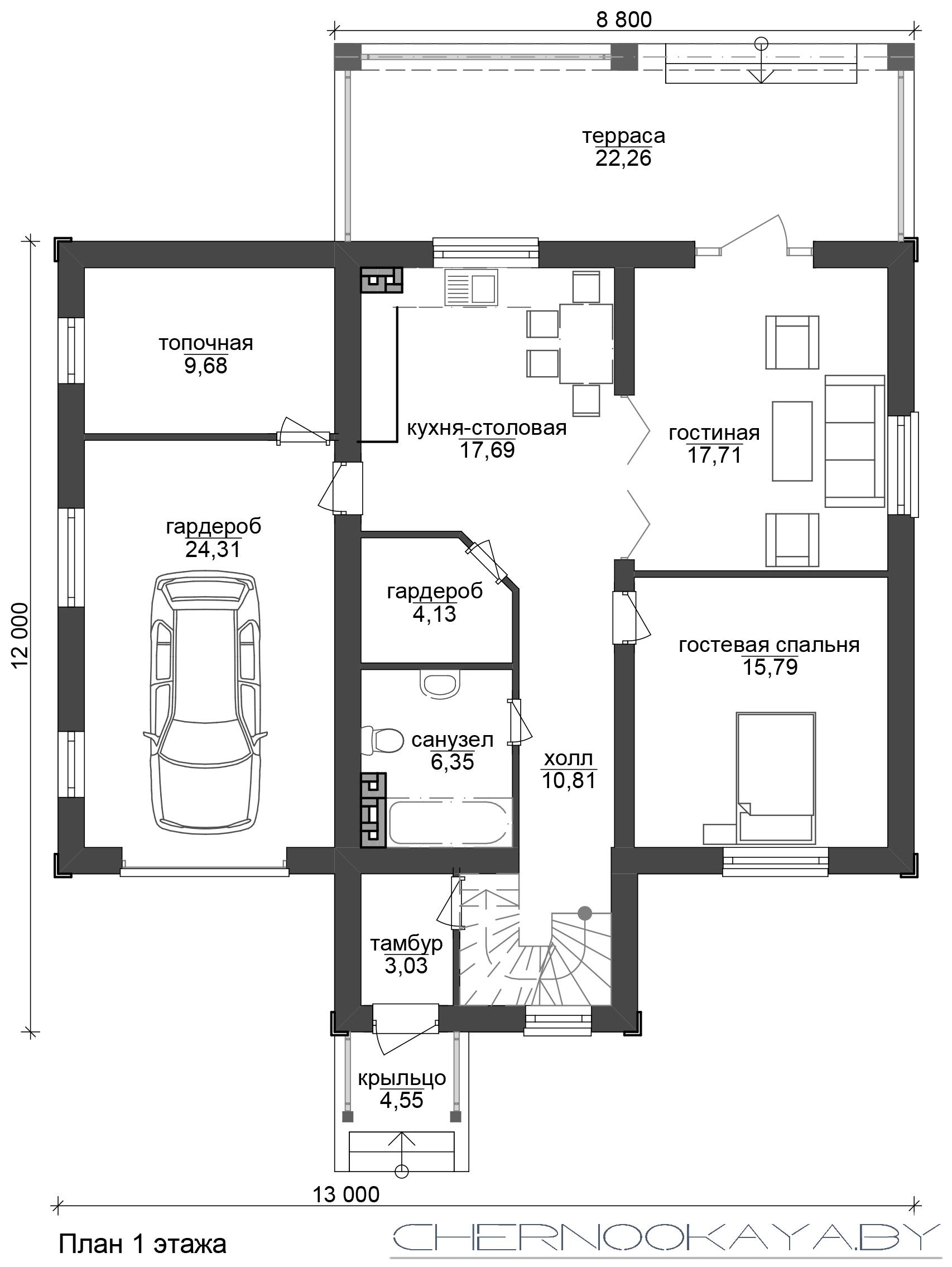 Проект дома №1532 план