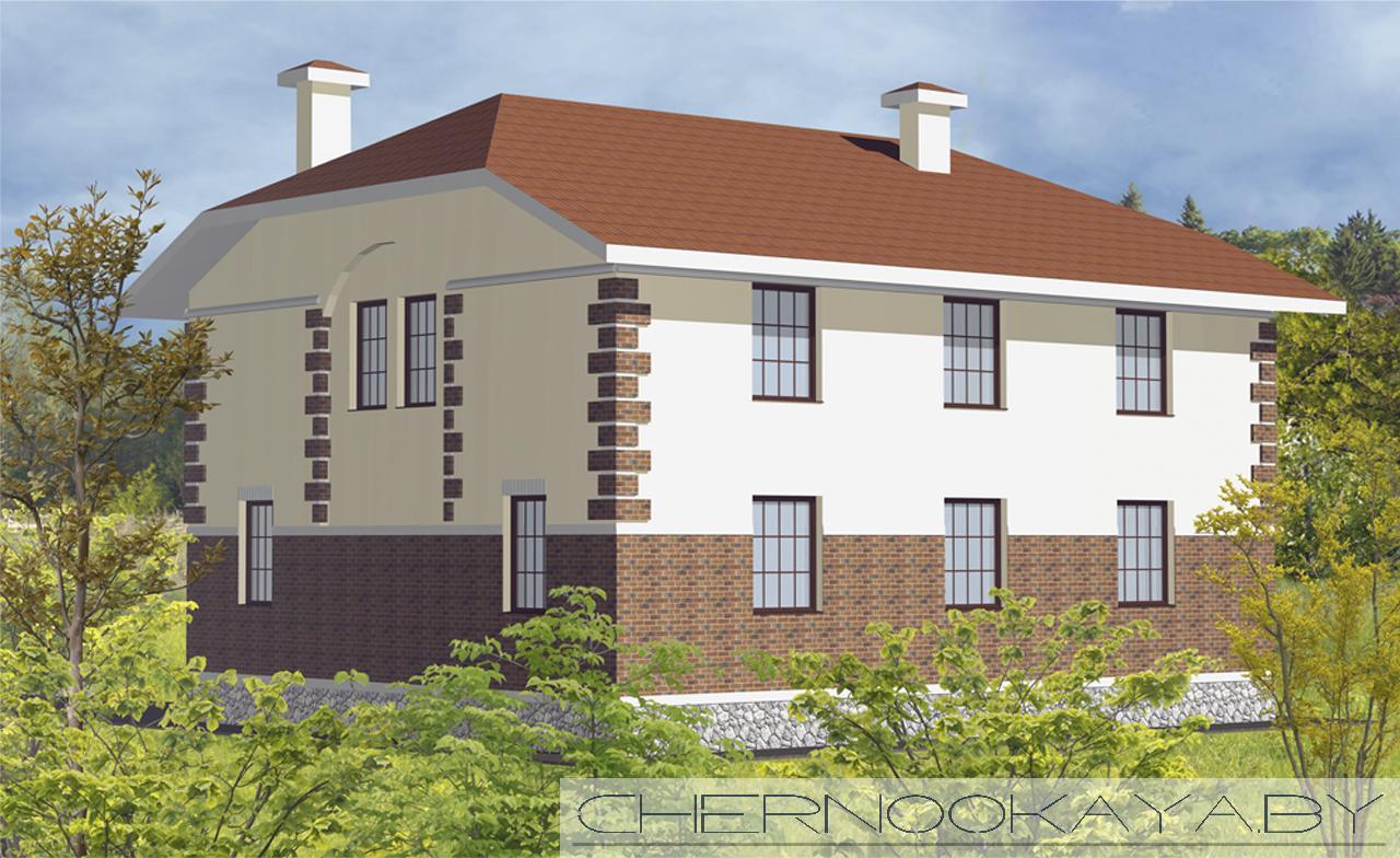 Проект дома №1503 фасад