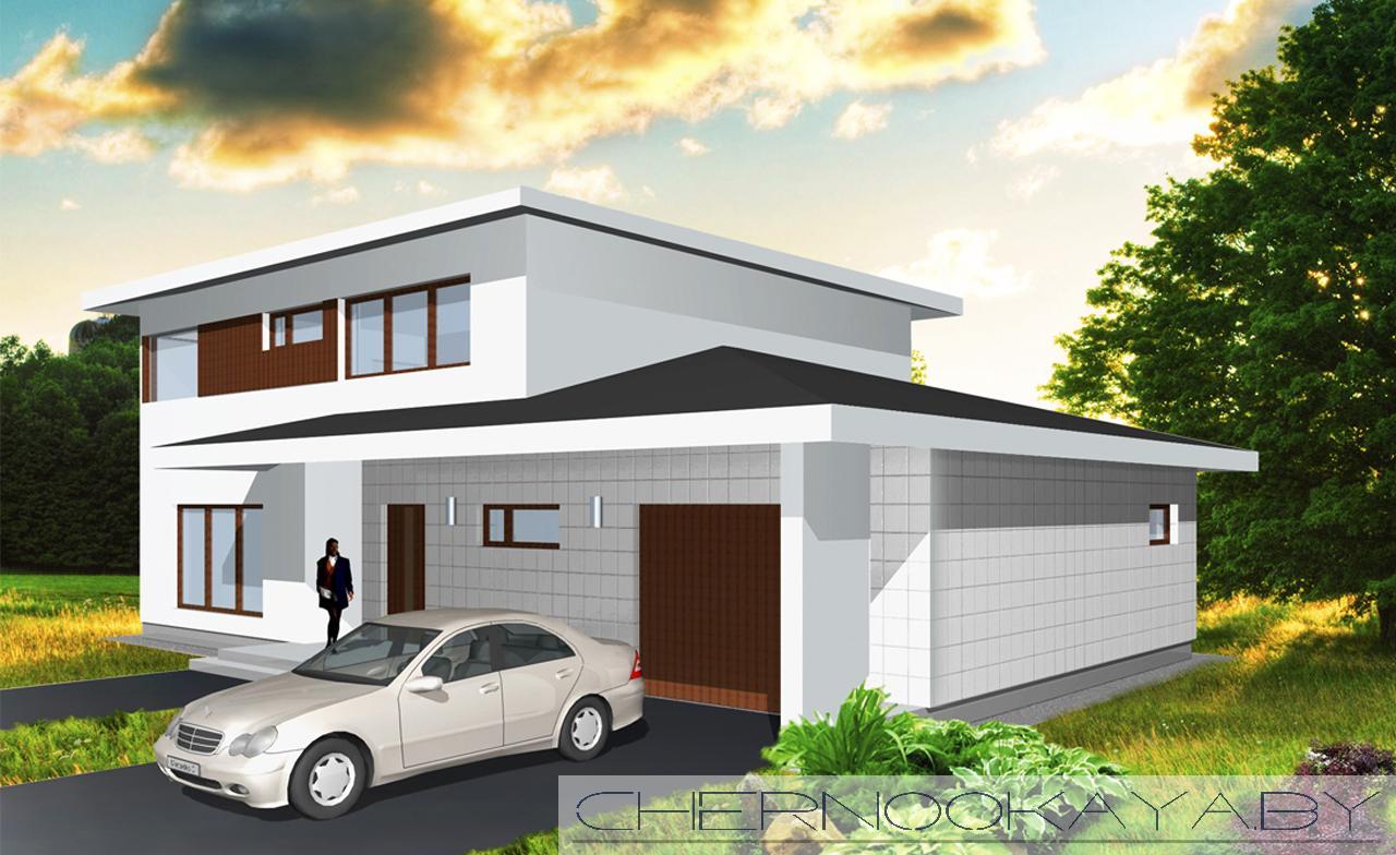 Проект дома №1505 фасад