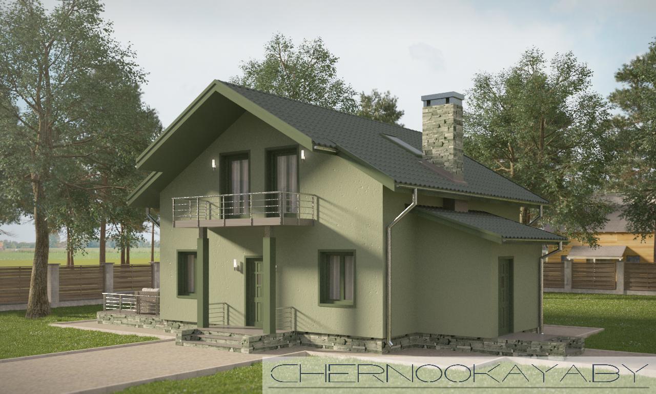 Проект дома №1507-3 фасад