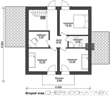Проект дома №1507-3 план
