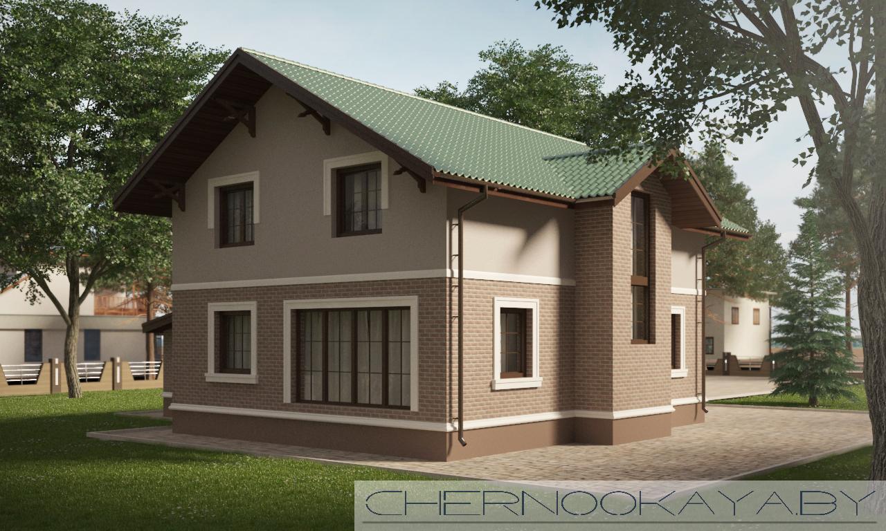Проект дома №1533-7 с гаражом фасад