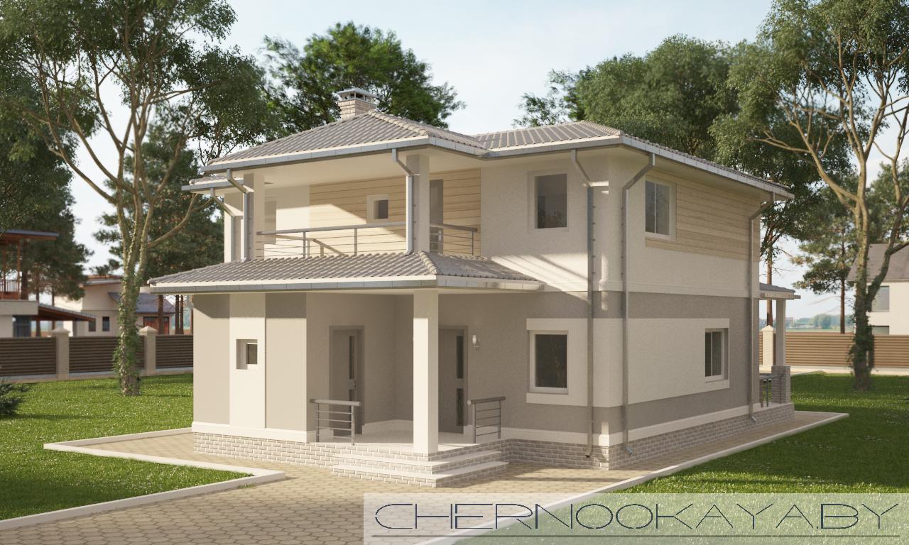 Проект дома №1534 фасад
