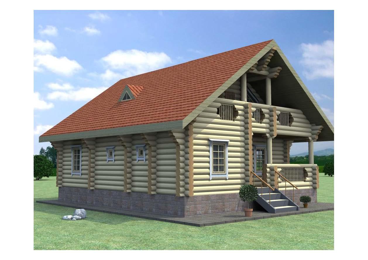 деревянный домик  фасад