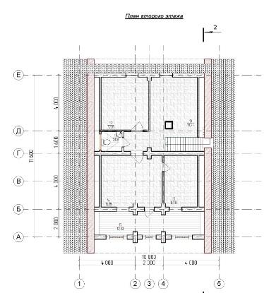 деревянный домик  план