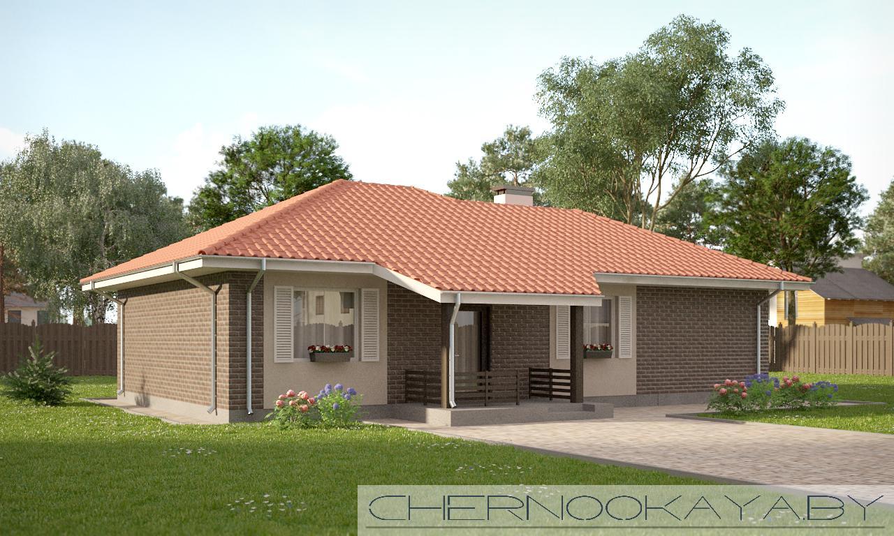 Проект дома №1550-3 с гаражом фасад