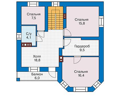 Проект кирпичного дома 41-54 план