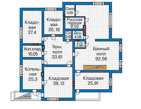 Проект кирпичного дома 41-60 план