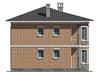 Проект кирпичного дома 41-54 фасад