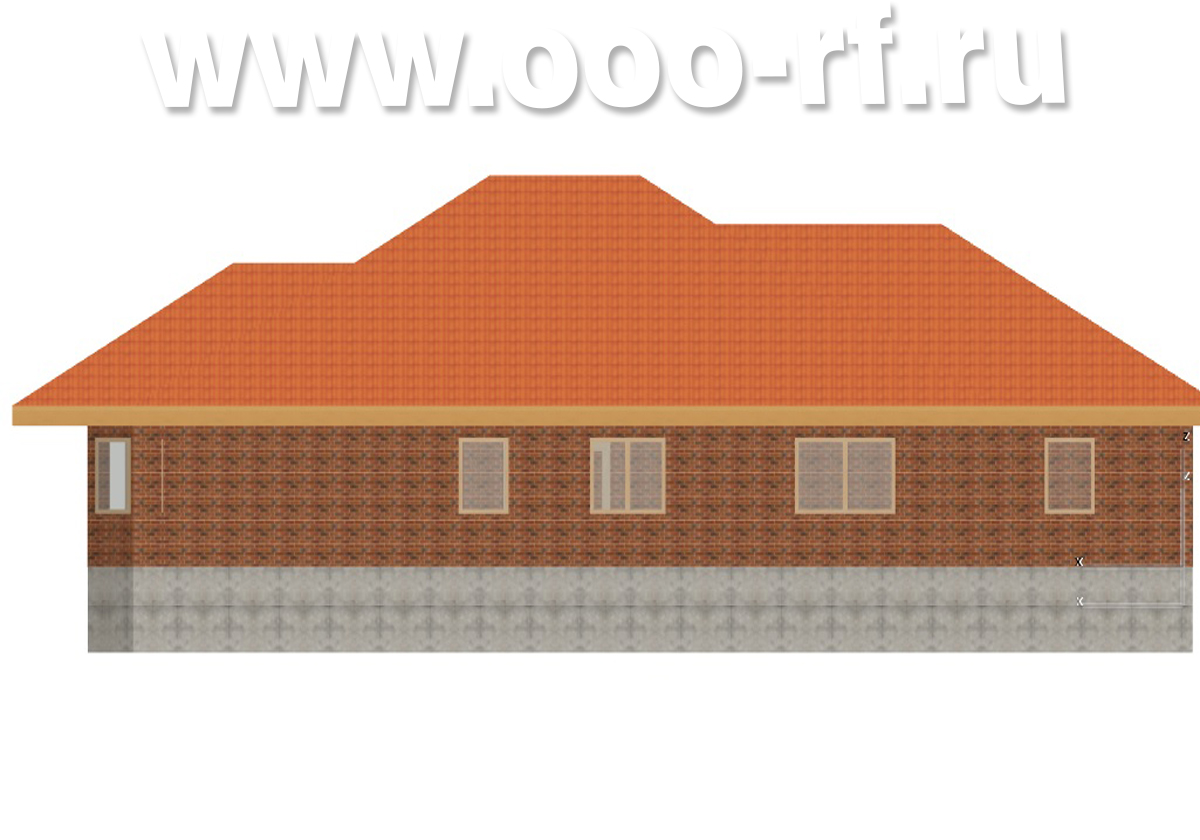 1-о этажный дом с гаражом фасад