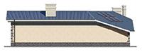 Проект кирпичного дома 41-62 фасад