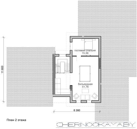 Проект современного дома №1569 план