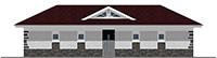 Проект кирпичного дома 41-63 фасад
