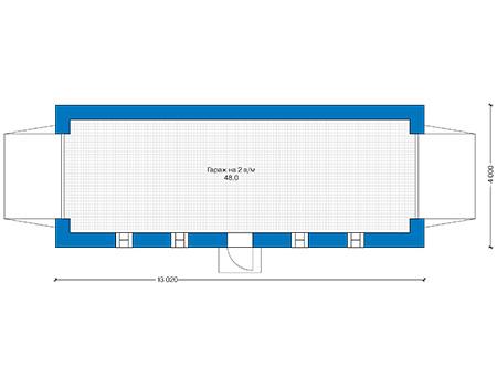 Проект кирпичного дома 41-63 план