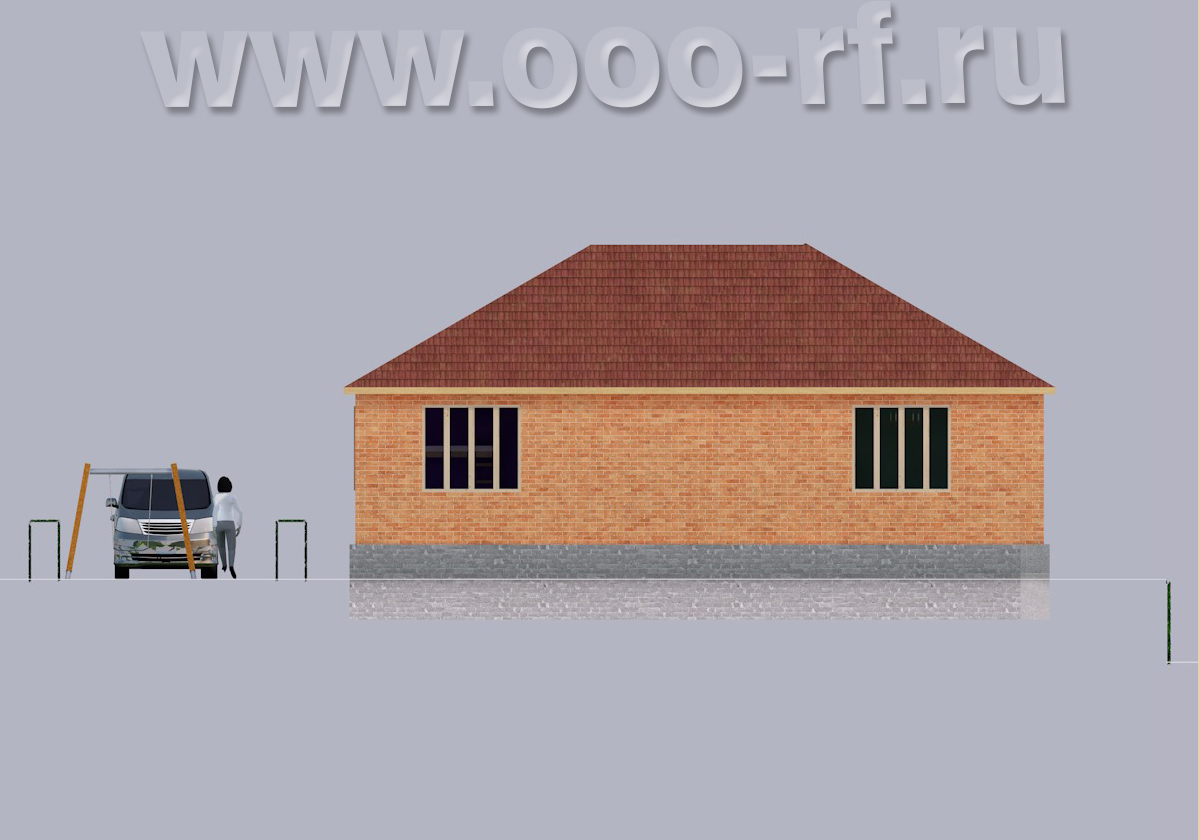 Дача для семьи фасад
