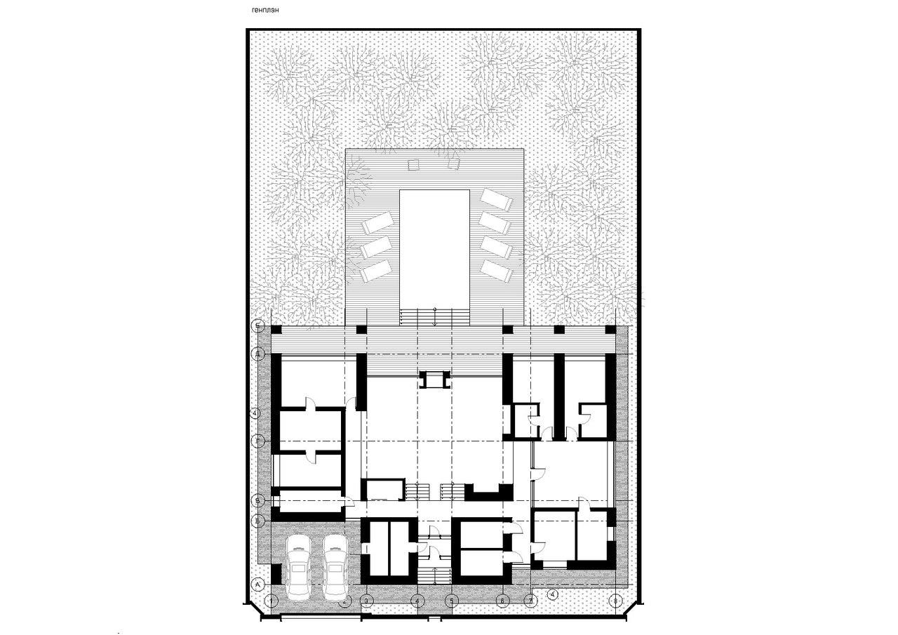 Загородный дом в поселке Солнечный план