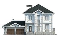 Проект кирпичного дома 41-70 фасад