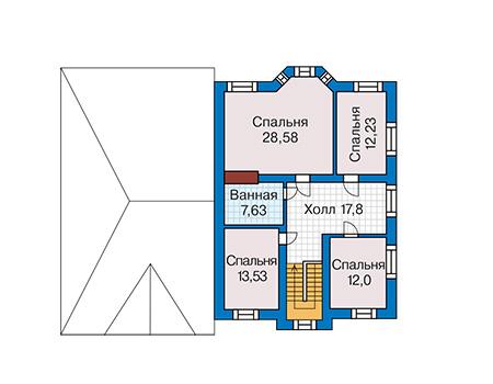Проект кирпичного дома 41-70 план